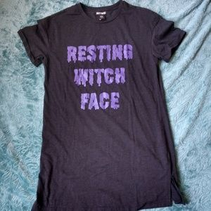 """""""Resting Witch Face"""" T-Shirt Dress"""
